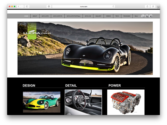 Screenshot of Lucra.Cars homepage